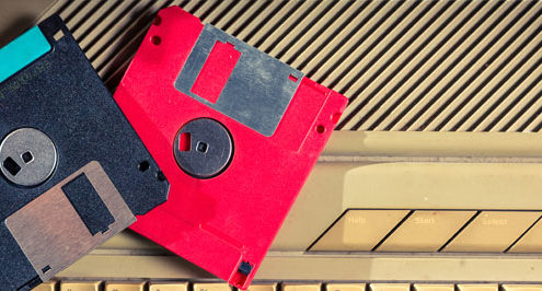 Ransomware on a floppy disk